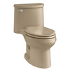 KOHLER Adair Mexican Sand 1.28-GPF (4.85-LPF) 12 Rough-In WaterSense Elongated 1-Piece Comfort Height Rear Outlet Toilet