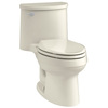 KOHLER Adair Biscuit 1.28-GPF (4.85-LPF) 12 Rough-In WaterSense Elongated 1-Piece Comfort Height Rear Outlet Toilet