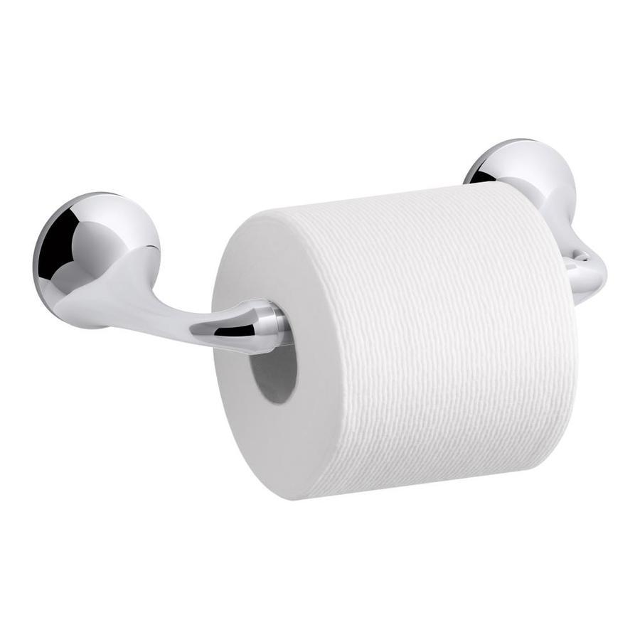 shop kohler elliston polished chrome surface mount toilet paper holder at. Black Bedroom Furniture Sets. Home Design Ideas