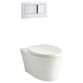 KOHLER Veil Dune 1.6; 0.8-GPF (6.06; 3.03-LPF) Wall-Hung WaterSense Elongated Dual-Flush Wall-Hung Custom Height Rear Outlet Toilet