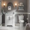 KOHLER Cimarron White 1.28-GPF (4.85-LPF) 12-in Rough-in WaterSense Round 2-Piece Chair Height Toilet