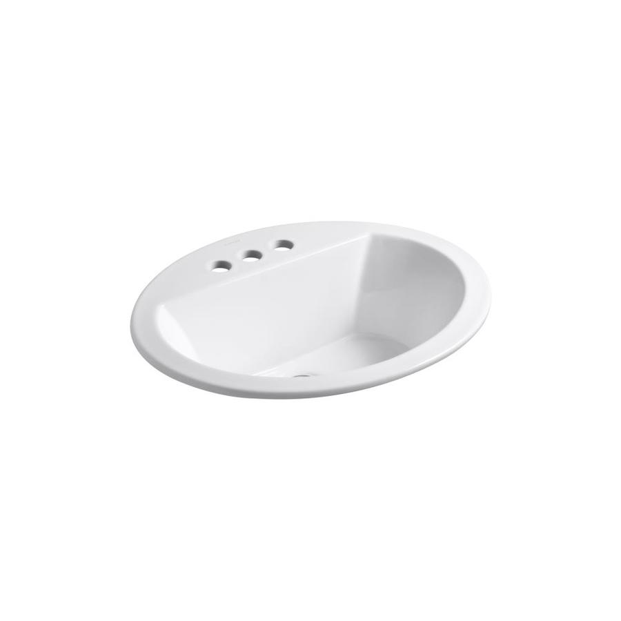 ... zoom in kohler bryant white drop in oval bathroom sink with overflow