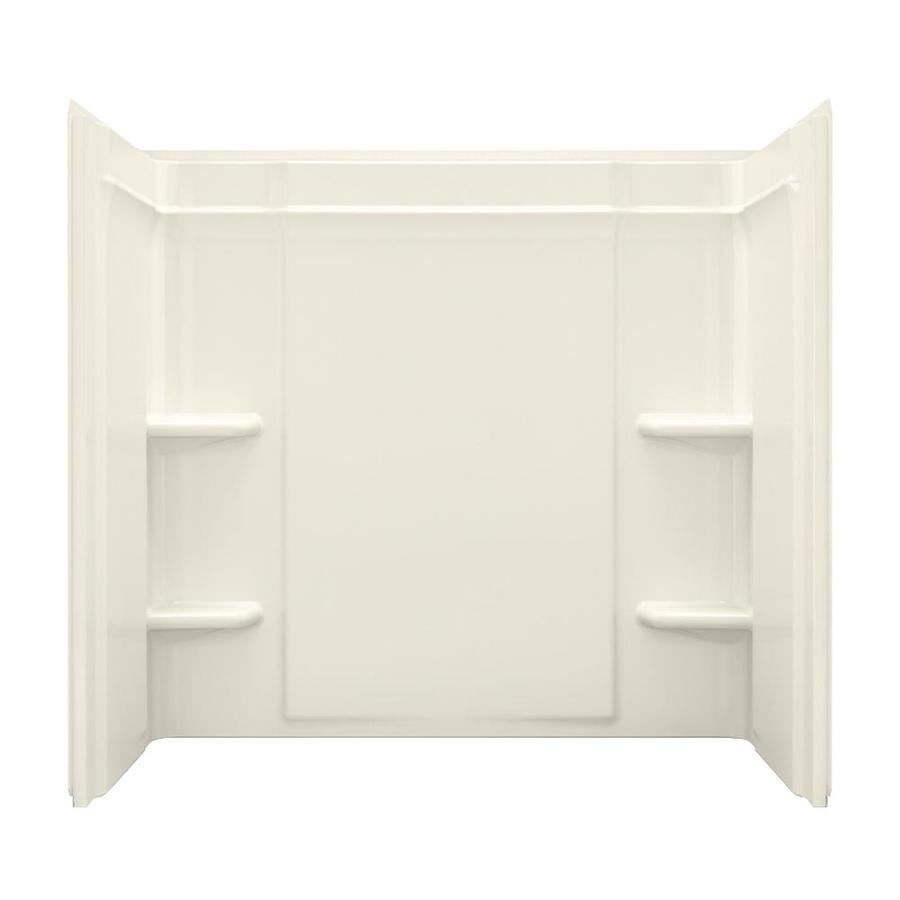 sterling ensemble biscuit fiberglass and plastic bathtub wall surround