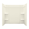 Sterling Ensemble Fiberglass and Plastic Bathtub Wall Surround (Common: 60-in x 32-in; Actual: 55-in x 60-in x 33.25-in)