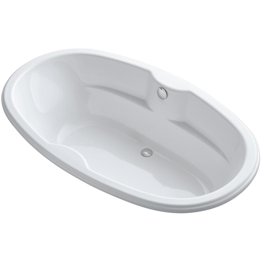 Shop kohler proflex white acrylic oval drop in bathtub for Soaker tub definition