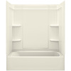 Sterling Ensemble Vikrell Wall and Floor 4-Piece Alcove Shower Kit with Bathtub (Common: 60-in x 30-in; Actual: 73-in x 60.25-in x 31.25-in)