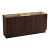 KOHLER Jacquard Woolen Oak Traditional Bathroom Vanity (Common: 72-in x 22-in; Actual: 72-in x 21.875-in)