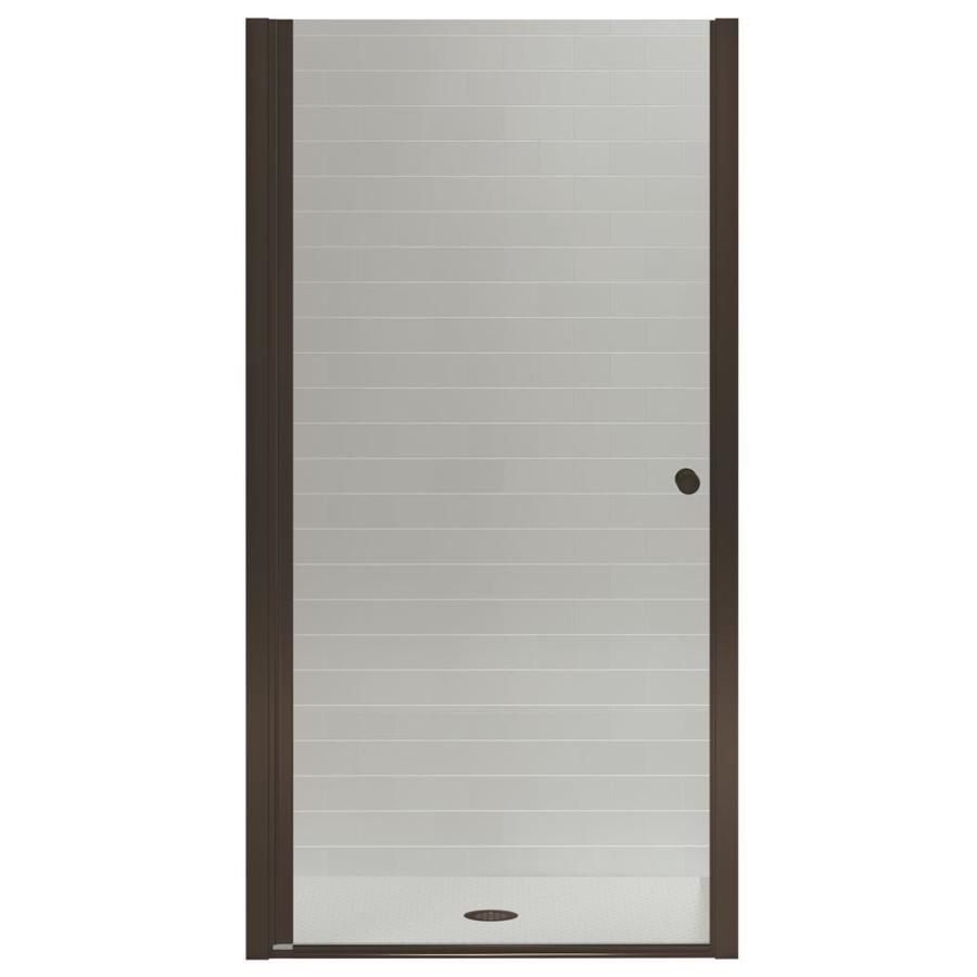 shop kohler fluence 31 25 in to 32 75 in frameless pivot shower door at lowes