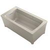 KOHLER Archer 62-in L x 32-in W x 22-in H Sandbar Acrylic Rectangular Freestanding Air Bath
