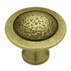 betsyfieldsdesign 1-1/2-in Tumbled Antique Brass Round Cabinet Knob