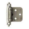 Brainerd 2-Pack 2-3/4-in x 1-3/4-in Heirloom Silver Self-Closing Cabinet Hinges