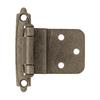 Brainerd 2-Pack 2-3/4-in x 2-1/8-in Heirloom Silver Self-Closing Cabinet Hinges