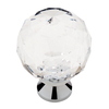 Brainerd Chrome and Clear Round Cabinet Knob