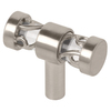 Liberty Hardware 1-1/2-in Satin Nickel and Clear Rectangular Cabinet Knob