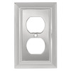 Brainerd 1-Gang Chrome Standard Duplex Receptacle Metal Wall Plate