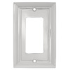 Brainerd 1-Gang Chrome Decorator Rocker Metal Wall Plate