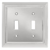 Brainerd 2-Gang Chrome Standard Toggle Metal Wall Plate