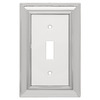 Brainerd 1-Gang Chrome and White Standard Toggle Metal Wall Plate