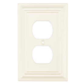 Brainerd 1-Gang Cream Standard Toggle Wood Wall Plate