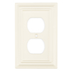 Brainerd 2-Gang White Standard Toggle Wood Wall Plate