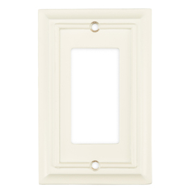 Brainerd 1-Gang White Finish Decorator Rocker Metal Wall Plate