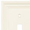 Brainerd 1-Gang Cream Toggle Wall Plate