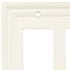 Brainerd 2-Gang Cream Toggle Wall Plate