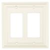 Brainerd 2-Gang Cream Decorator Rocker Wood Wall Plate