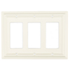 Brainerd 3-Gang White Decorator Rocker Wood Wall Plate