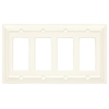 Brainerd 4-Gang White Decorator Rocker Wood Wall Plate