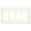 Brainerd 4-Gang Cream Decorator Rocker Wood Wall Plate