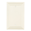 Brainerd 1-Gang White Blank Wood Wall Plate