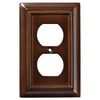 Brainerd 1-Gang Espresso Standard Toggle Metal Wall Plate