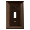 Brainerd Wood Architectural 1-Gang Espresso Single Toggle Wall Plate
