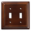 Brainerd 2-Gang Espresso Toggle Wall Plate