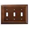 Brainerd 3-Gang Espresso Standard Toggle Wood Wall Plate