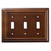Brainerd 3-Gang Espresso Standard Toggle Wood Wall Plate