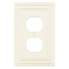 Brainerd 1-Gang Cream Standard Single Receptacle Wood Wall Plate
