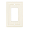 Brainerd 1-Gang Cream Decorator Rocker Wood Wall Plate