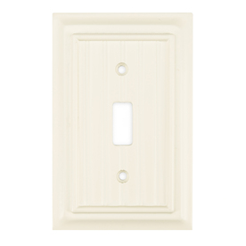 Brainerd 1-Gang White Standard Toggle Wood Wall Plate