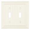 Brainerd 2-Gang Cream Standard Toggle Wood Wall Plate
