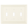 Brainerd 3-Gang White Standard Toggle Wood Wall Plate