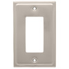 Brainerd 1-Gang Satin Nickel Decorator Rocker Stainless Steel Wall Plate