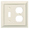 Brainerd 2-Gang Almond Standard Duplex Receptacle Wood Wall Plate