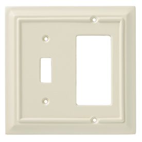 Brainerd 2-Gang Almond Wall Plate