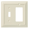 Brainerd 2-Gang Almond Combination Wood Wall Plate