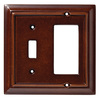 Brainerd 2-Gang Espresso Combination Wood Wall Plate