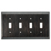 Brainerd 4-Gang Venetian Bronze Toggle Wall Plate