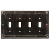 Brainerd 4-Gang Venetian Bronze Standard Toggle Metal Wall Plate