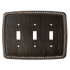 Brainerd 3-Gang Venetian Bronze Standard Toggle Metal Wall Plate